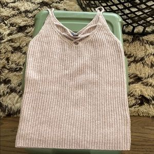 American Eagle Knit Strappy Tank